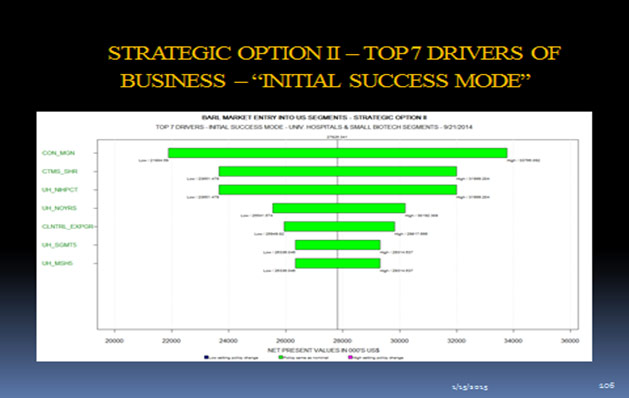 Strategic Option II - Top 7 Drivers of Business - Initial Success Mode
