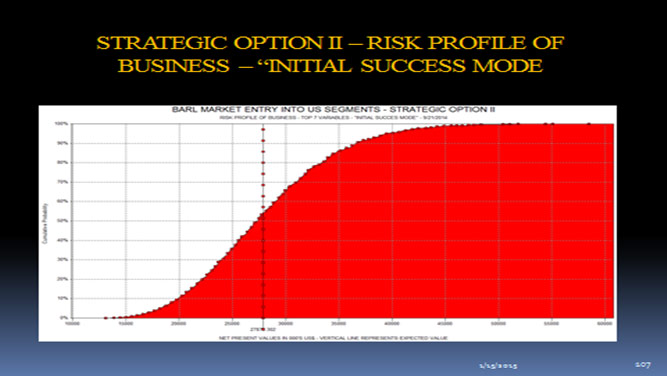 Strategic Option II - Risk Profile of Business- Initial Success Mode